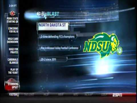 NDSU Bison on ESPN SportsCenter/College Gameday vs. Kansas State