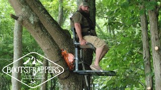 Hunt Wherever You Want Using Out On a Limb MFG's TS1 Treestand   Bootstrappers