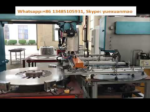 Frame type automatic notching press for motors
