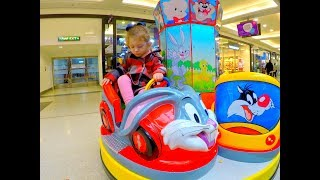Car Ride For Kids Playing at Shopping Store