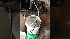 Florcraft tile saw with bucket heater