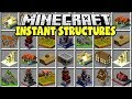 Minecraft INSTANT STRUCTURES MOD | INSANTLY CREATE HUGE MINECRAFT HOUSES!!