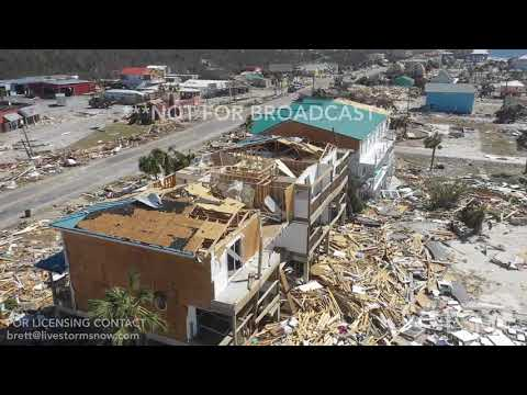 10-12-2018 Mexico Beach, Fl Hurricane Michael Total destruction from drone, neighborhoods missing