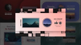 Youtube Modern Endscreens   After Effects template