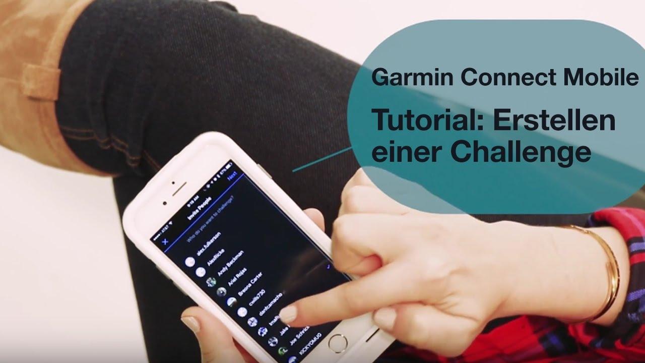 Garmin Connect Mobile Tutorial Erstellen Einer Challenge
