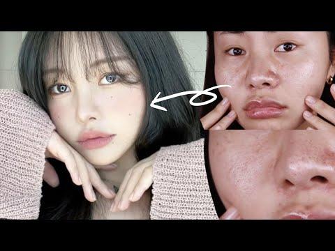 화장으로만 이렇게 변신가능?! 인간벚꽃🌸 뮤트 메이크업 (feat.잡티케어) :: Cherry Blossom Makeup with Subs