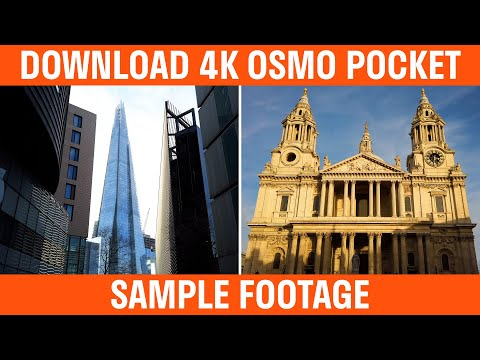 Download DJI Osmo Pocket 4K Sample Footage
