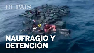 Tres traficantes sobreviven a un naufragio flotando sobre fardos de cocaína
