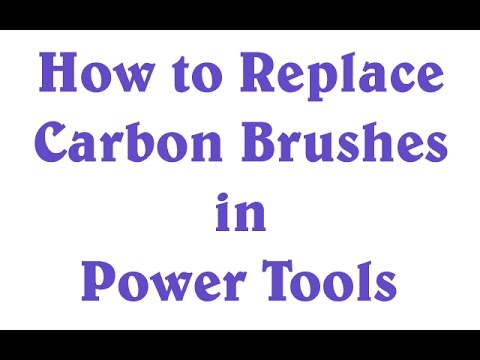 How to Replace Brushes on Power Tools