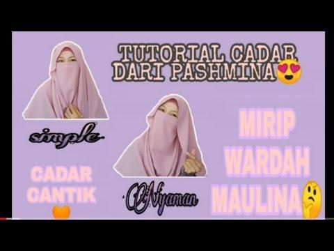 Tutorial Cadar Dari Pashmina Mirip Wardah Maulina Youtube