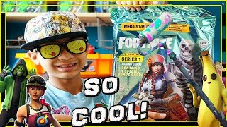 FORTNITE TRADING CARD MEGA STARTER PACK SERIES 1 FOUND HOLO CARDS!