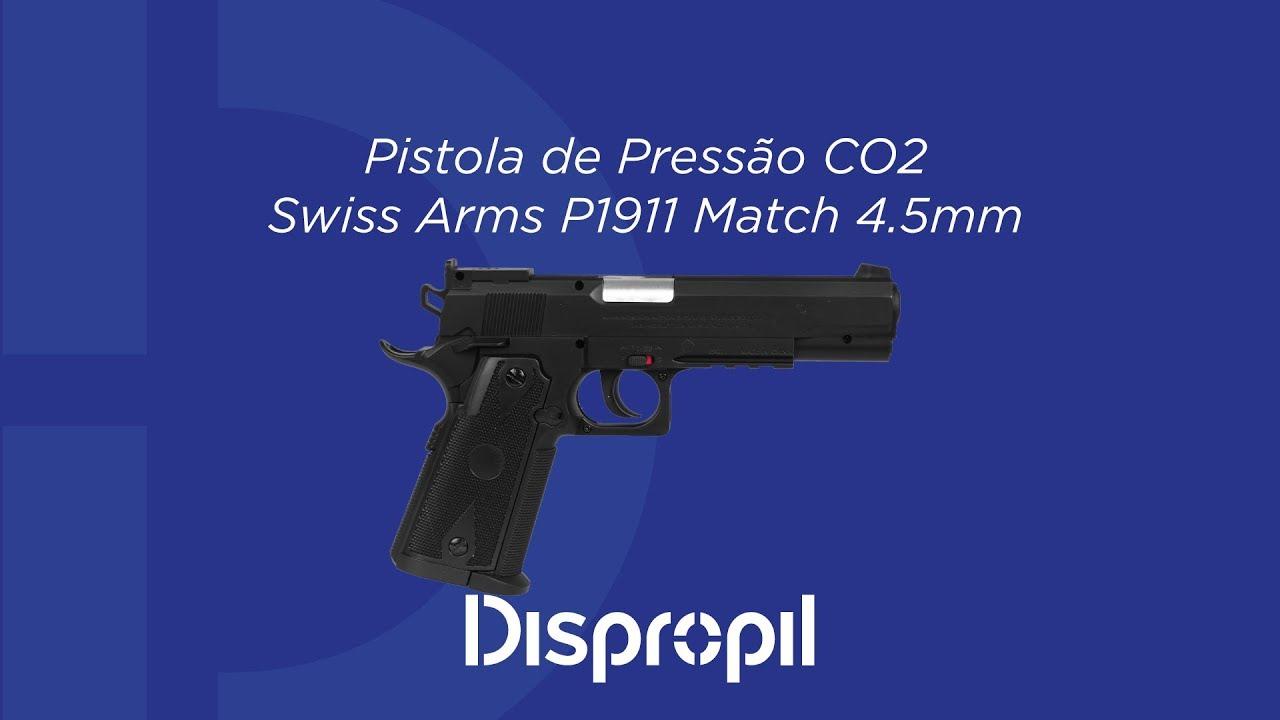Review Pistola de Pressão CO2 Swiss Arms P1911 Match 4.5mm - YouTube