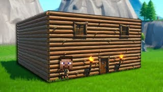 Building your First House in Minecraft (Fortnite Edition)