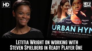 connectYoutube - Letitia Wright on working with Steven Spielberg in Ready Player One