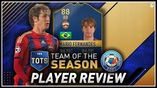 FIFA 17 TOTS Mario Fernandes (88) Player Review W/Gameplay & In-Game Stats