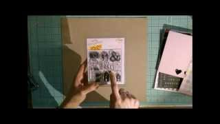 Scrapbooking tutorial: Stamping to create a background