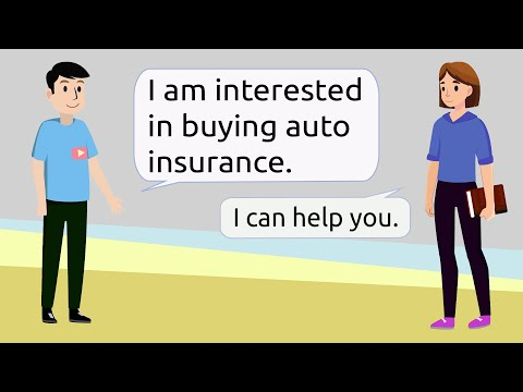 Talk about car insurance | English speaking skills practice
