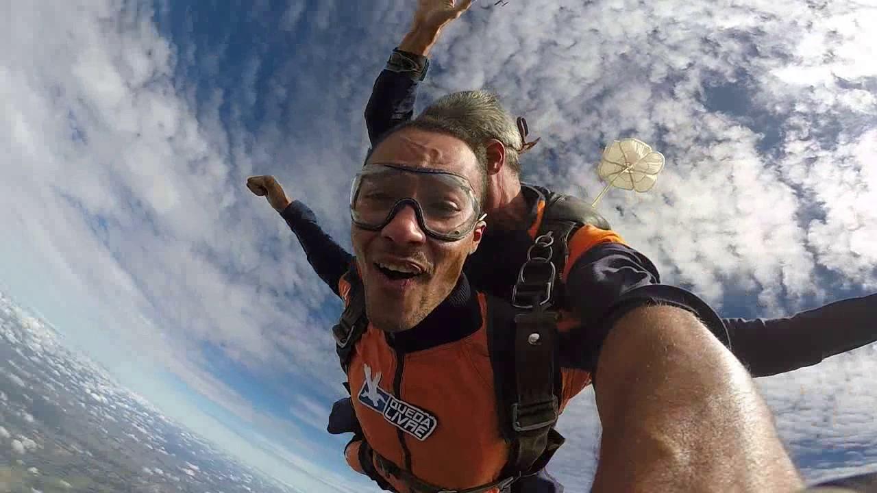 Salto de Paraquedas do Miguel na Queda Livre Parequedismo 07 01 2017