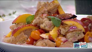 Plum & Peach Panzanella Salad