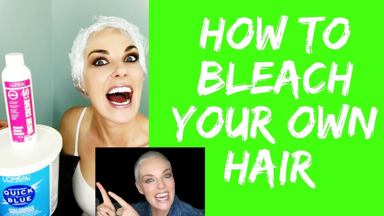 How To Bleach Peroxide Your Own Hair From Home Without The Scalp