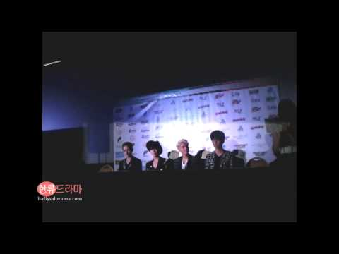 [090713 Fancam] Kpop Republic Presscon - Shinee