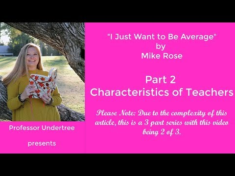 understanding part  i just wanna be average by mike rose