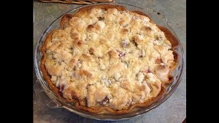 Rhubarb And Apple Pie With Walnut Crumb Topping | EASY TO LEARN | QUICK RECIPES