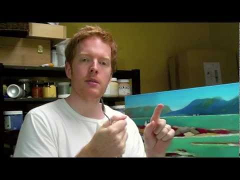 Acrylic Painting Techniques  How to lay out an acrylic painting palette technique