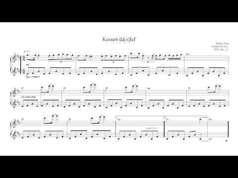 Aphex Twin - Kesson dalef [daslef] sheet music