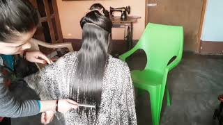 #multi step with four step hair cut step by step prefect method