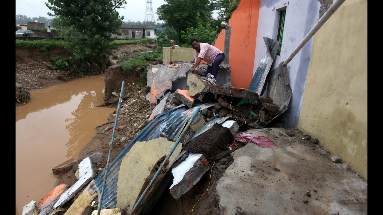 Image result for Heavy rains wreak havoc; houses, shops damaged in Jammu