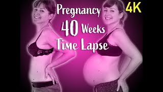 40 WEEKS PREGNANCY TIME LAPSE VIDEO in 4k | WEEKLY PREGNANCY transformation | Adorable Pregnancy