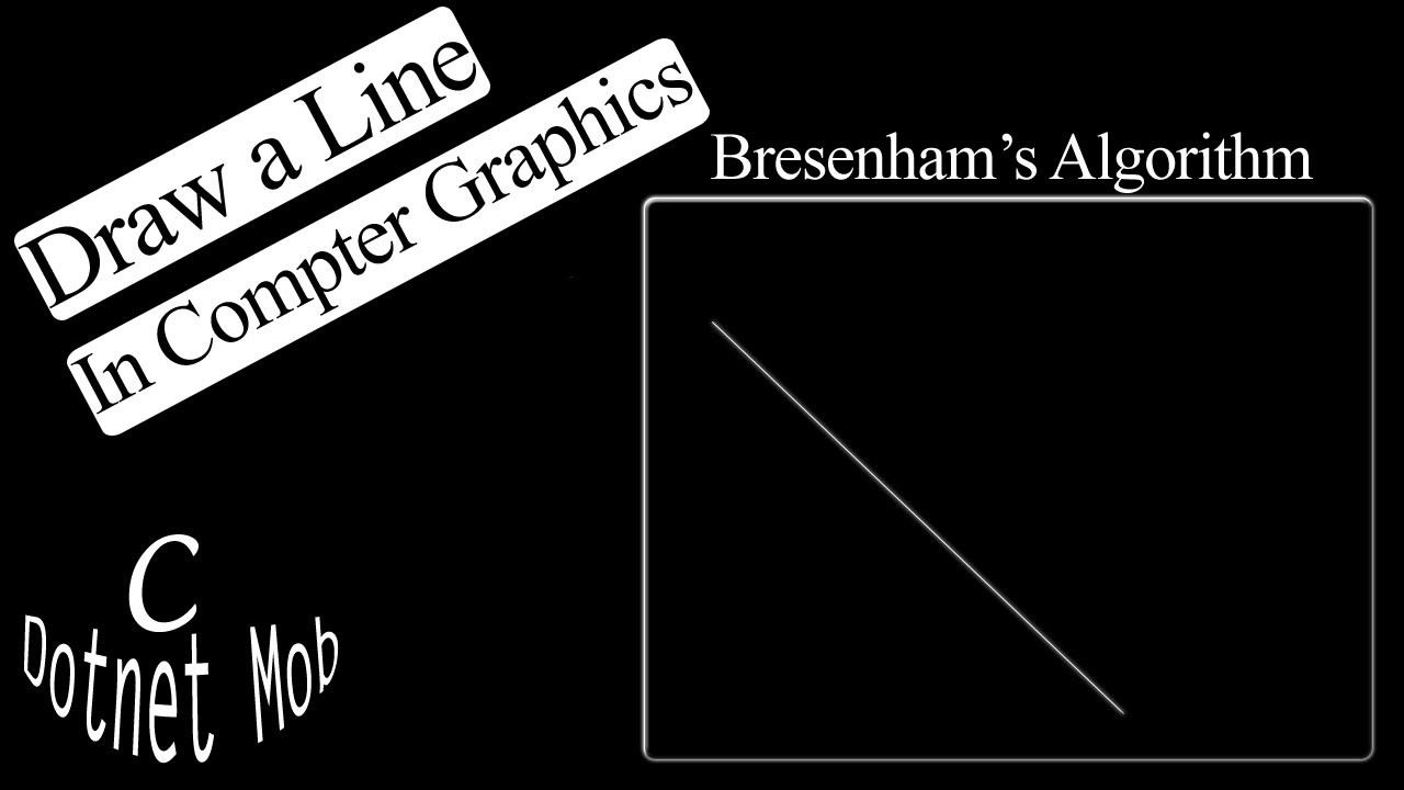 Line Drawing Algorithm Program In Computer Graphics : C graphics program drawing line using bresenham s