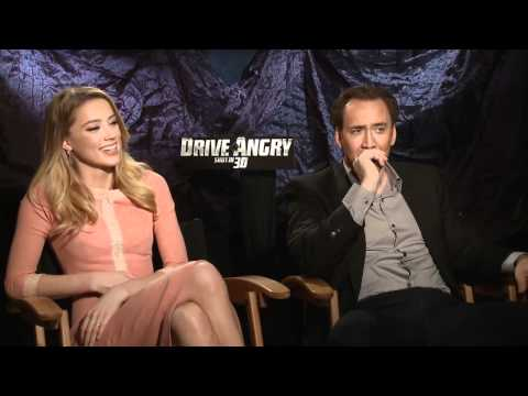 Nicolas Cage and Amber Heard on 'Drive Angry 3D