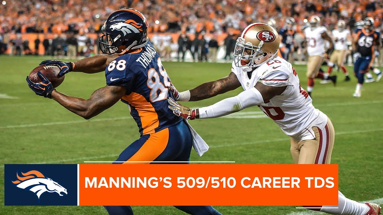 Demaryius Thomas Catches Peyton Manning's Record-Breaking TD Passes | Denver Broncos Highlights