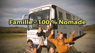 FAMILLE NOMADE à PLEIN TEMPS ❗️ PRÉSENTATION BUS CAMPING CAR - VIEBERTÉ & VAN LIFE - Voyage Voyages