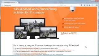 How to embed IP camera live stream into web page