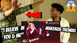"MaKenzie Thomas Sings ""I Believe in You and Me"" - The Voice 2018 Live Playoffs Top 24"