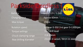 Parkside cordless drill from Lidl - User review / parkside