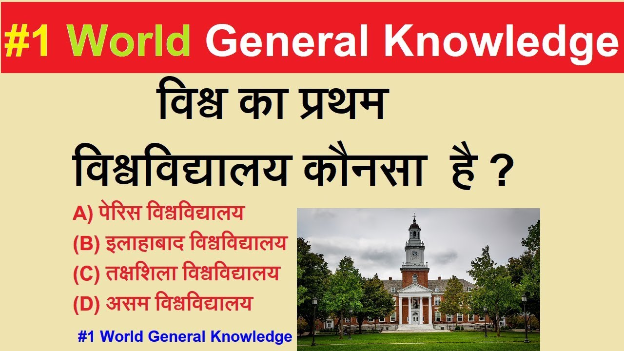 World General Knowledge part-1 || world Important GK in hindi