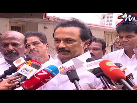 DMK president M K Stalin paid respects to the departed colleague Vasanthi Stanley. |STV
