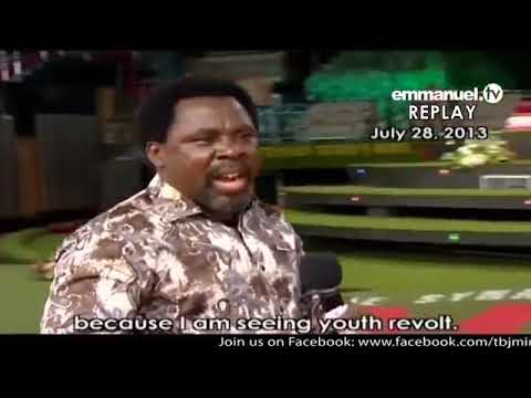 Emmanuel Tv Live Service 05 04 2020 Tb Joshua Advises His Partners Youtube