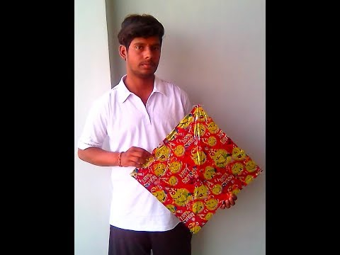 How to make a gift paper kite at home