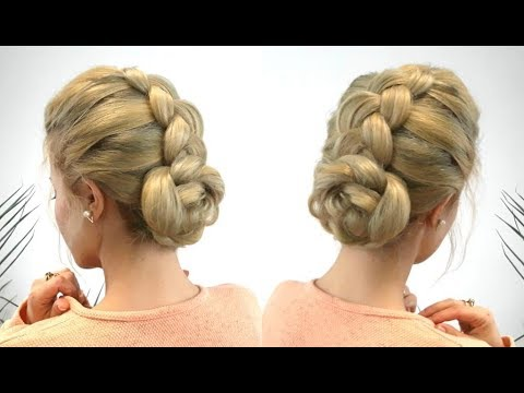 Quick And Easy Hairstyle Easy 2 Minutes Braided Bun Updo Awesome
