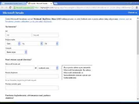 Outlook Kaydol, Kayıt Ol Nasıl Olunur