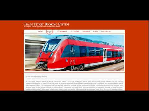 Java, JSP And MySQL Project on Train Ticket Booking System