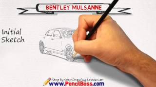 How to draw a Bentley Mulsanne (Speed Drawing)