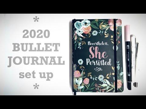 2020 Bullet Journal Set Up