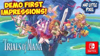 Trials Of Mana Remake Demo First impressions! Nintendo Switch