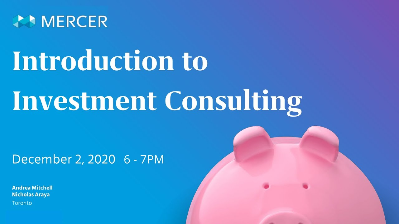 MASSA Webinar: Introduction to Investment Consulting